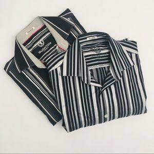 BUGATCHI UOMO Shaped Fit Long Sleeve Shirt Lot M